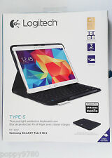 NEW Logitech Type-S Wireless Keyboard Folio Case for Samsung Galaxy Tab S 1