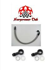 Fuel Line Braided Honda 1996-2000 Civic Fuel Hose Kit Fuel Line Black
