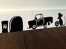 MOUSE Mechanics Car funny wall art decal vinyl stickers decor Tools Tyres d