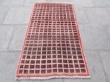 Old Traditional Hand Made Persian Oriental Gabbeh Wool Brown Purple 170x100cm