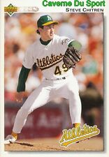 471 STEVE CHITREN OAKLAND ATHLETICS  BASEBALL CARD UPPER DECK 1992
