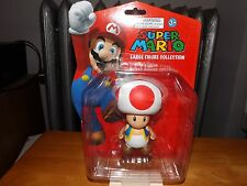 "SUPER MARIO LARGE FIGURE COLLECTION, TOAD 4"" FIGURE, NEW IN PACKAGE, 2013"