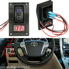 12V Car Boat LED Battery Test Panel Rocker Switch ON-OFF-ON & Digital Voltmeter