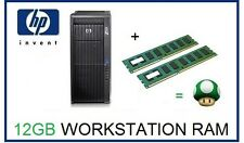12GB (3x4GB) DDR3 ECC UDIMM Memoria RAM upgrade HP Z200 Z400 y Z600 Workstation