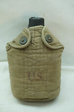 VINTAGE WWII US ARMY CANTEEN DATED 1942 FOLEY MFG CO ALUMINUM BOTTLE BELT HOOK