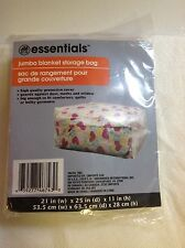 Jumbo Blanket Storage Bag - For Blankets, Comforters, Quilts and Bulky Garments