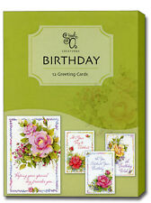 Celebrating You - Assorted Box of 12 Birthday Cards by Studio Q