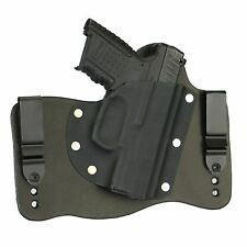 FoxX Leather & Kydex IWB Hybrid Holster Walther PPS M2 Black Right Tuckable