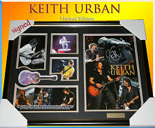 ON SALE! KEITH URBAN MUSIC MEMORABILIA SIGNED FRAME LIMITED EDITION 499 w/ COA