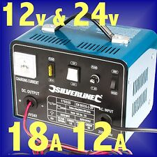 12v 18a / 24v 12a BATTERY CHARGER METAL CASE booster car truck van amp 3yr Gtee