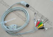 6 PIN 5 lead Veterinary ECG CABLE with Clip for CONTEC patient Monitor CMS6000