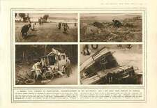 1914 Red Cross Train Wrecked Souvenir-hunters British Bomb Droppers Collet