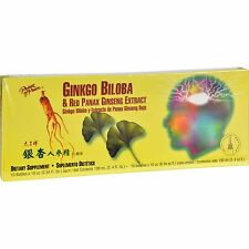 Prince of Peace Ginkgo Biloba and Red Panax Ginseng Extract - 10 Vials