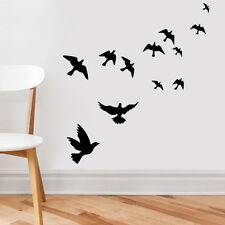 Black many flying The dove of peace home decor vinyl Wall sticker wall decals