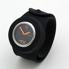 Tick Tok Black Slap Bandz Slap On Wrist Watch - Mens Womens Boys And Girls
