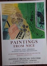 Raoul DUFY - Affiche poster lithographie paintings from Nice Mourlot 1966