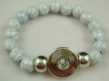 HOT Diy handmade Pearl beads Bracelet fit chunk snap button aw37