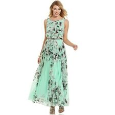 Women Western - Sea Green Chiffon Party / Club Dress + Navy Blue Make up Pouch