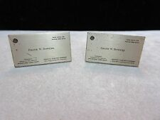 RARE Vintage GE General Electric Business Card Cufflinks 1950's