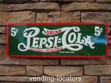 PEPSI COLA Metal Embossed Metal Advertising Double Dot Bottle Cooler Button Tin