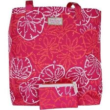 Lilly Pulitzer for Estee Lauder Design Tote/Beach Bag & Pouch, Creme and Gloss