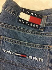 Vintage VTG Men's TOMMY HILFIGER JEANS Flag Logo Embroidered Pocket 36X32 Baggy