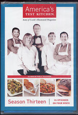 AMERICAS TEST KITCHEN  season thirteen  DVD NEW  4 disc set shrinkwrap tears