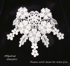 Ivory Venise Guipure Flower Bridal baby Lace Dress APPLIQUE motif neck trim