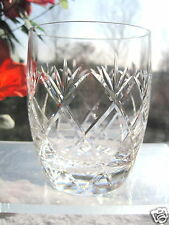 Whisky Glass Barrel Tumbler Open Cross Cutting & Fan Motif Stourbridge Crystal