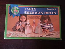 Early American Paper Dolls / 1969 / Authentic Costumes / Stand Up Platforms