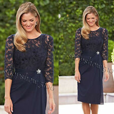 Navy Blue Lace Short Mother of the Bride Dresses Formal Party Bridal Dresses New