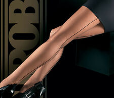 OROBLU RIGA 20 Cuban Heel Tights Pantyhose in Black Sz:S R:$23 New/Packaged