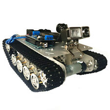 TS100 Intelligent Shock Absorption Metal Robot Tank Car Chassis Obstacle Crossin