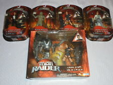 Playmates Tomb Raider Lara Croft Action Figure Lot stone monkey combat Siberia