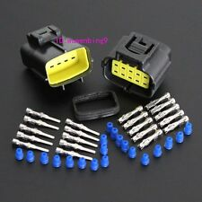 2 sets - Car Waterproof 10 Pin Electrical Wire Connector Plug AWG Car Motorcycle