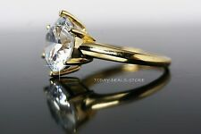 Women's 4.00 CT diamond roung cut engagement ring solid yellow gold jewelry new