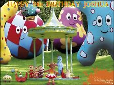 "PARTY PACK - IN THE NIGHT GARDEN -PERSONALIZED 10 x 7.5"" ICING CAKE TOPPER"
