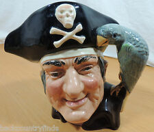Royal Doulton Long John Silver Pirate Parrot Toby Jug Mug