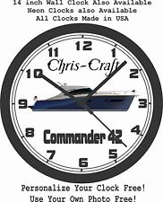 CHRIS CRAFT COMMANDER 42 WALL CLOCK-FREE USA SHIP