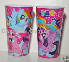 2 PC MY LITTLE PONY TUMBLER PLASTIC CUPS WATER CUP RAINBOW DASH PINKIE PIE TALL
