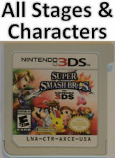 Super Smash Bros All Characters Stages except DLC Coin Unlocked 2DS 3DS XL