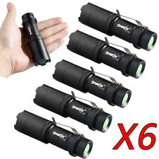 6X 6000LM Police CREE XML T6 LED Zoomable 18650 Flashlight Torch Zoom Lamp Light