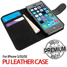 Flip Wallet Leather Case Cover For Apple iPhone 5 5S SE [B075