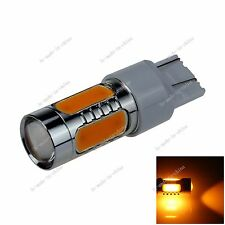 1X Yellow 7443 7440 5 COB LED 7.5W Turn Signal Rear Light Bulb DC 12-24V G011