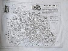 63 Puy de Dome gravure carte géographique Monin 1835 (c11-11)
