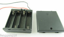 2x 4X AA 2A 6V Cell Battery Holder Box Case W/ On/Off Switch 6'' Lead Wire Black