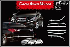 Chrome Bumper Molding Garnish Day Light Look C330 for Hyundai SONATA 2010~ 2013