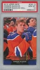 2015 Upper Deck #CM-5 Connor McDavid Collection RC Gem Mint PSA 10