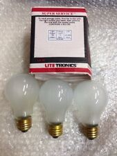 75A19/FR 75 Watt A19 20,000 Hour   Rough Service LongLife FROST Light Bulb 3-pc
