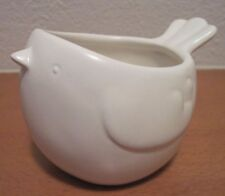 Red Envelope Giftware Small Ceramic White Bird Plant Pot Cache Pot
